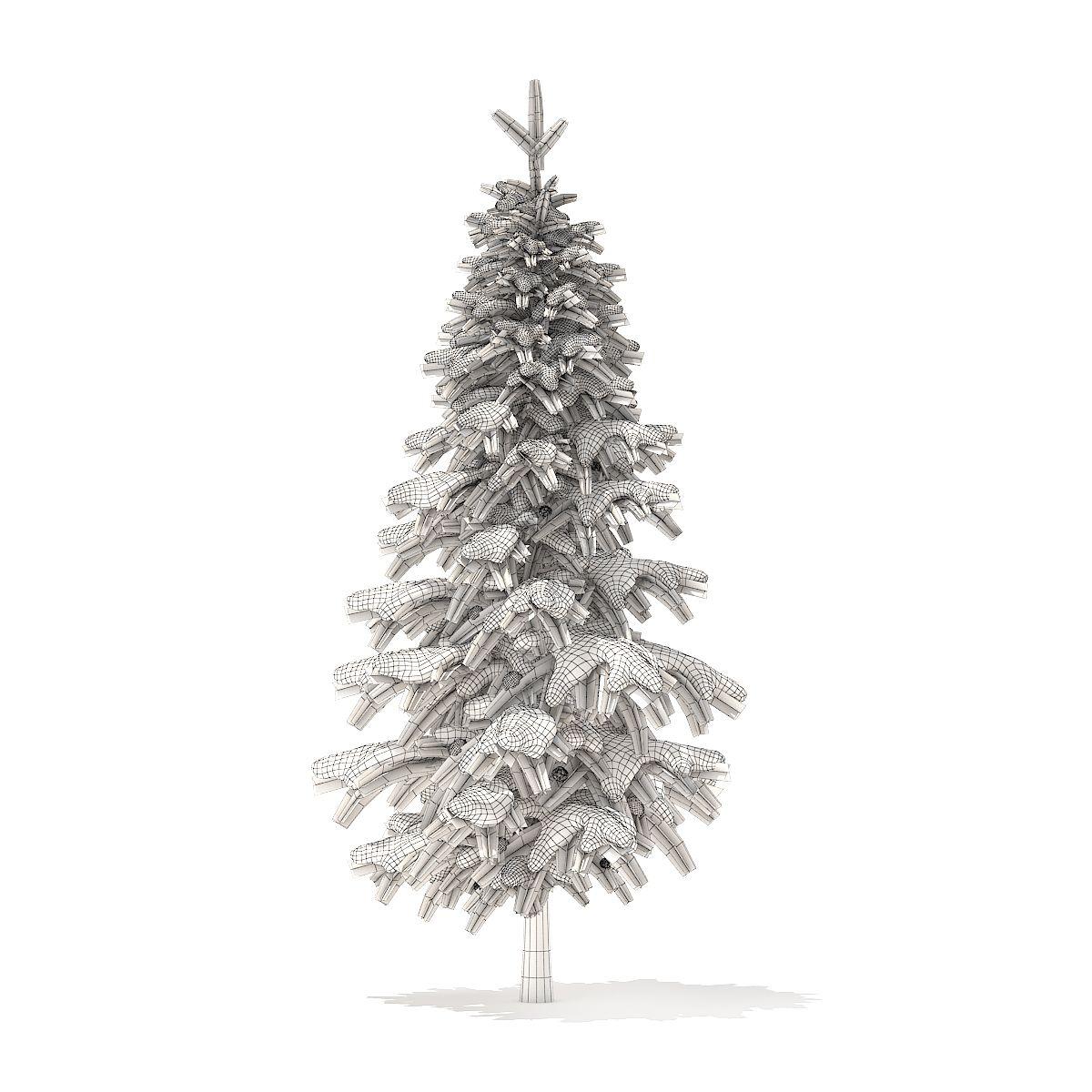 Fir Tree With Snow 3d Model 2 6m Fir Tree Tree 3d Model