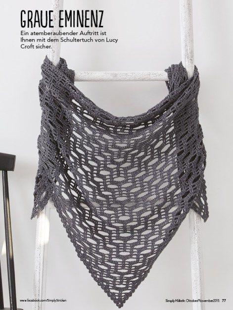 Simply Häkeln Heft 052015 Crochet Shawls Stoles Capes