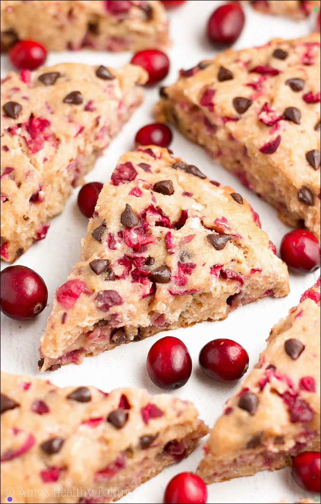 Healthy Cranberry Chocolate Chip Scones Only 152 Calories ...