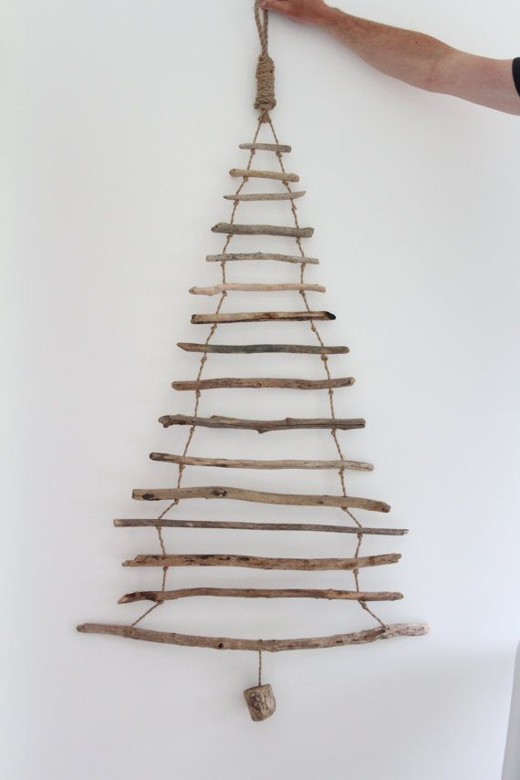 hanging driftwood christmas tree driftwood by thebeachcomberdevon ideas for wall hangings. Black Bedroom Furniture Sets. Home Design Ideas