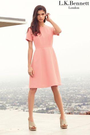 LK Bennett Jolie Dress in Popsicle