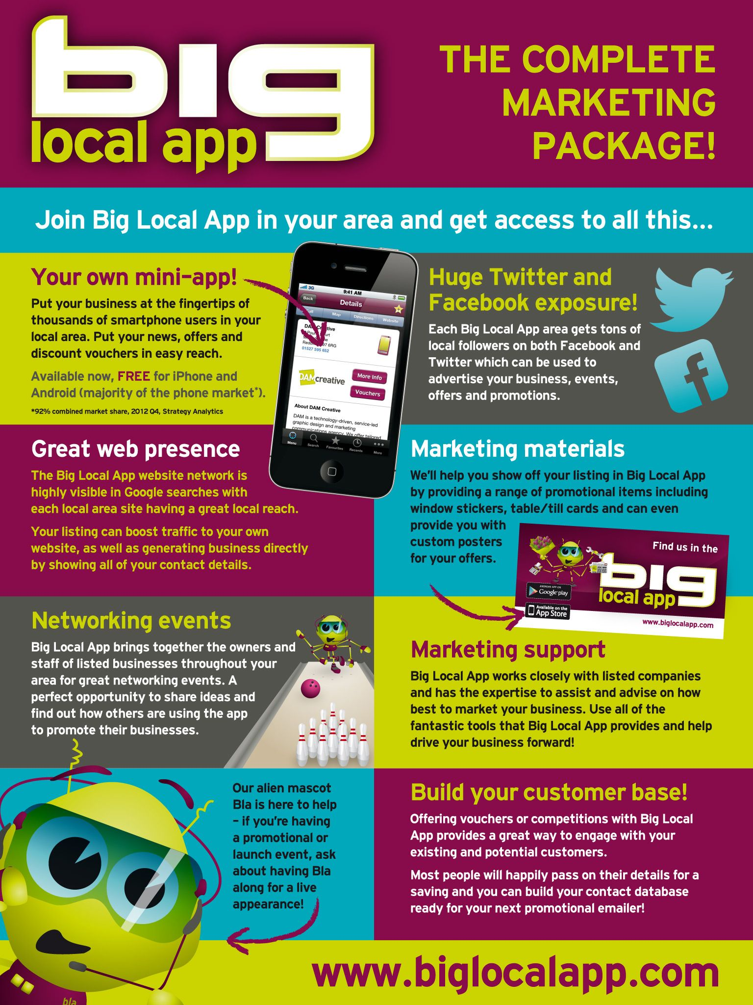 Some of the benefits of marketing your business in the Big Local App