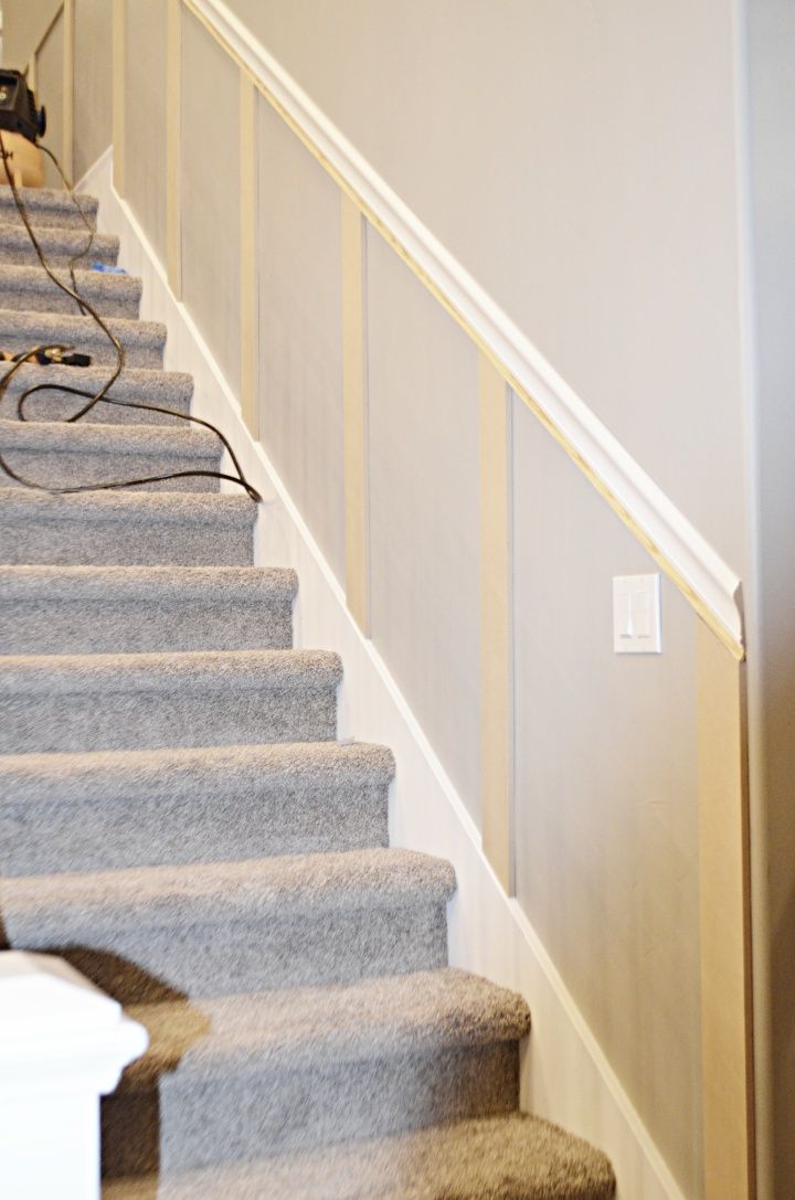 Staircase Makeover How To Install Molding Diy Projects