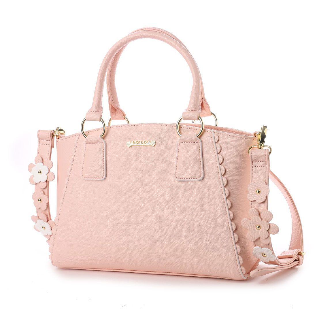 5d28d8c95a23 リズリサ LIZ LISA パスティー 花モチーフ使いショルダーストラップ付2WAYバッグ (ピンク)
