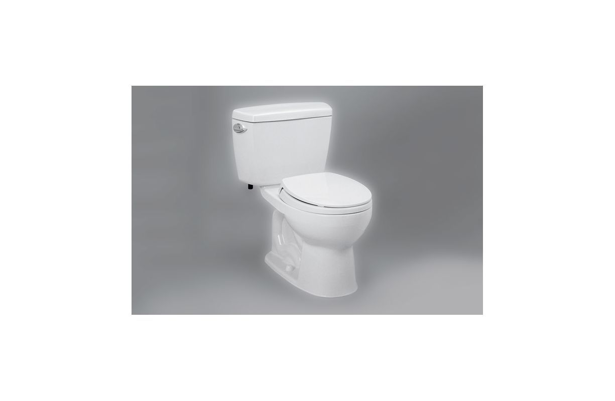 Toto CST743SR Drake 1.6 GPF Two Piece Round Toilet with Right-Hand ...