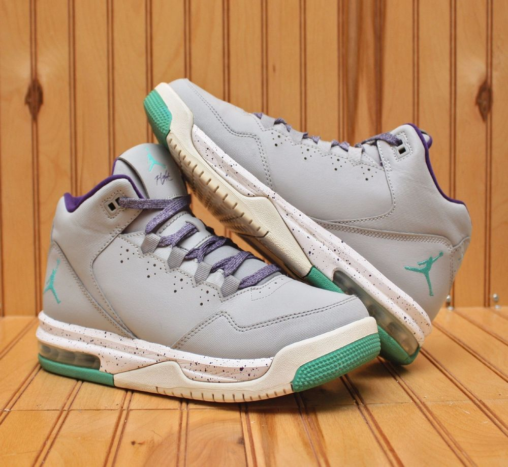 498105bd4db0 Nike Air Jordan Flight Origin 2 Size 6.5Y - Wolf Grey Light Purple - 718075  008  Nike  BasketballShoes