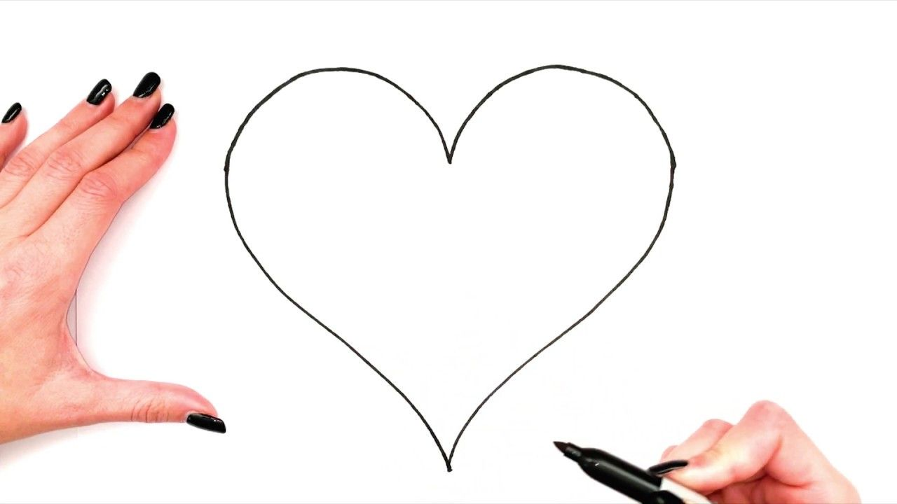 How To Draw A Heart💖|Heart Drawing|Simple|Step By Step ...