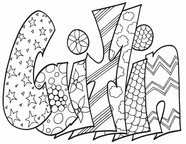 Caitlin Free Coloring Page Stevie Doodles Free Coloring Pages Name Coloring Pages Coloring Pages