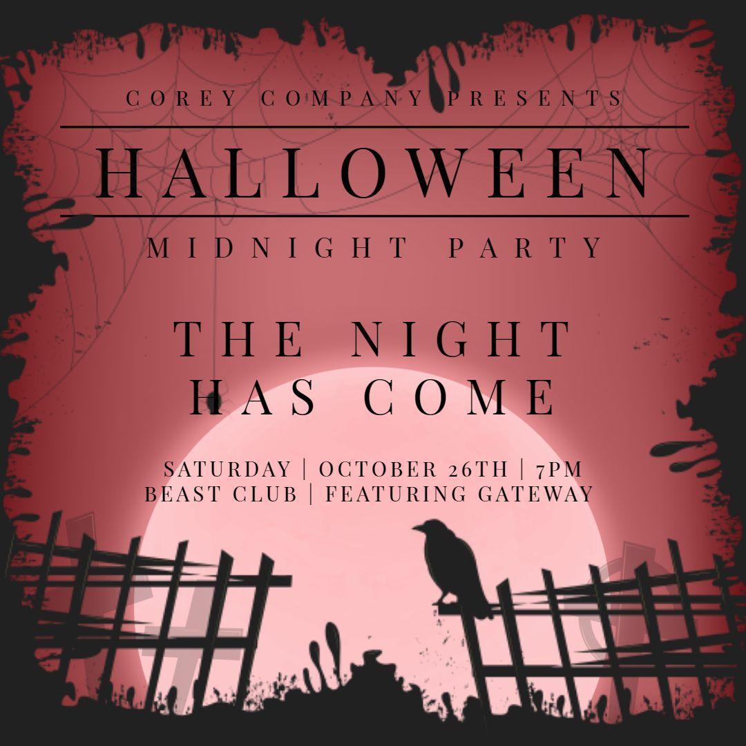 Creative Halloween movie night custom invitation post template ...