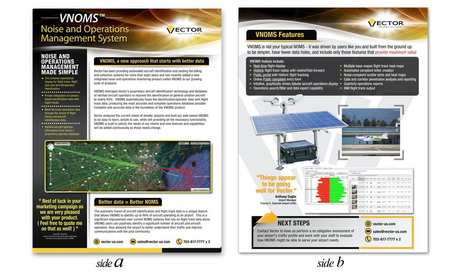 Help Vector Airport Systems Design A Marketing Brochure By Ted