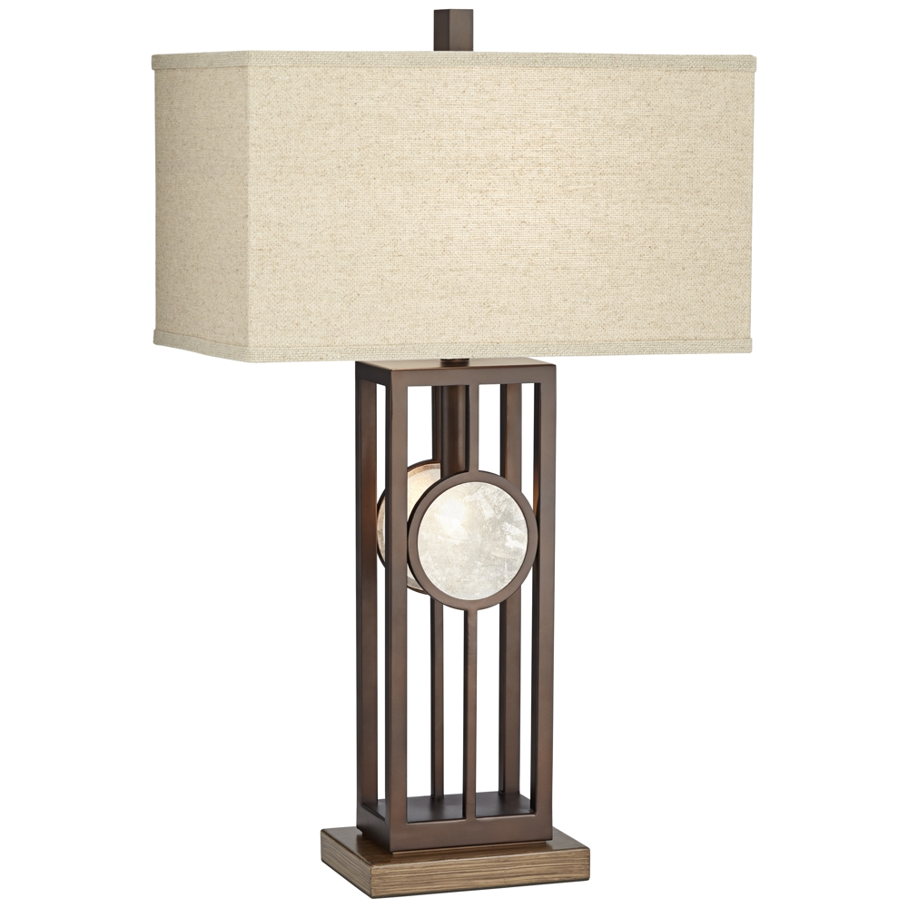Midland Metal Table Lamp With Night Light And Usb Port Style