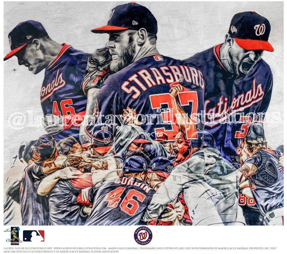 Fight Finished Washington Nationals World Series Commemorative Pie Washington Nationals Baseball Print World Series