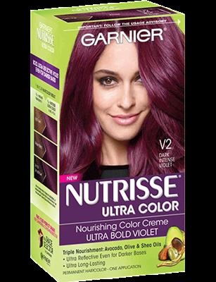 Hair Color || Nutrisse Ultra Color- Dark Intense Violet (V2 ...