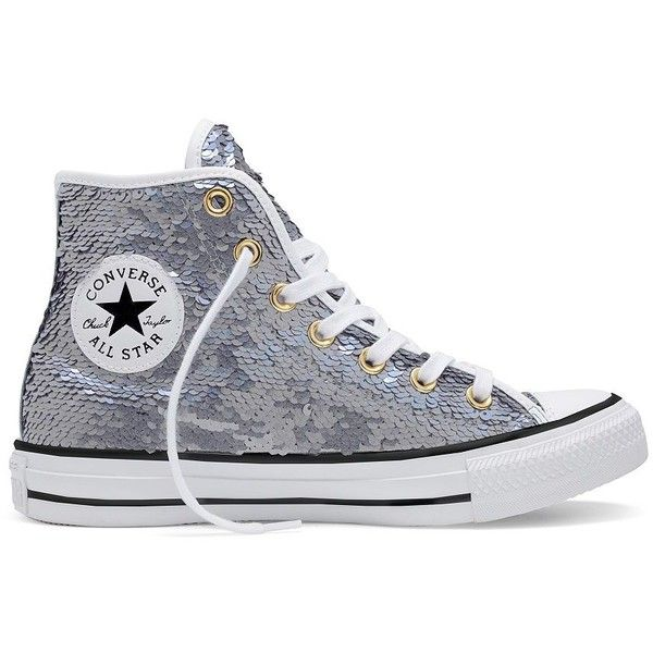 Converse Chuck Taylor All Star Holiday Party High Top Sneakers 80 Liked On Polyvore Featuring Shoes Converse Chuck Taylor All Star Sequin Shoes Converse