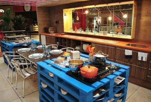 Cocina con tarimas madera pinterest tarimas cocinas - Tarima para cocina ...