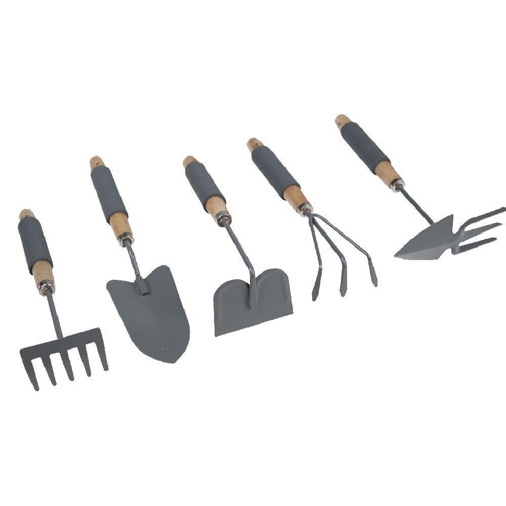 outil de jardinage gris x5 outils