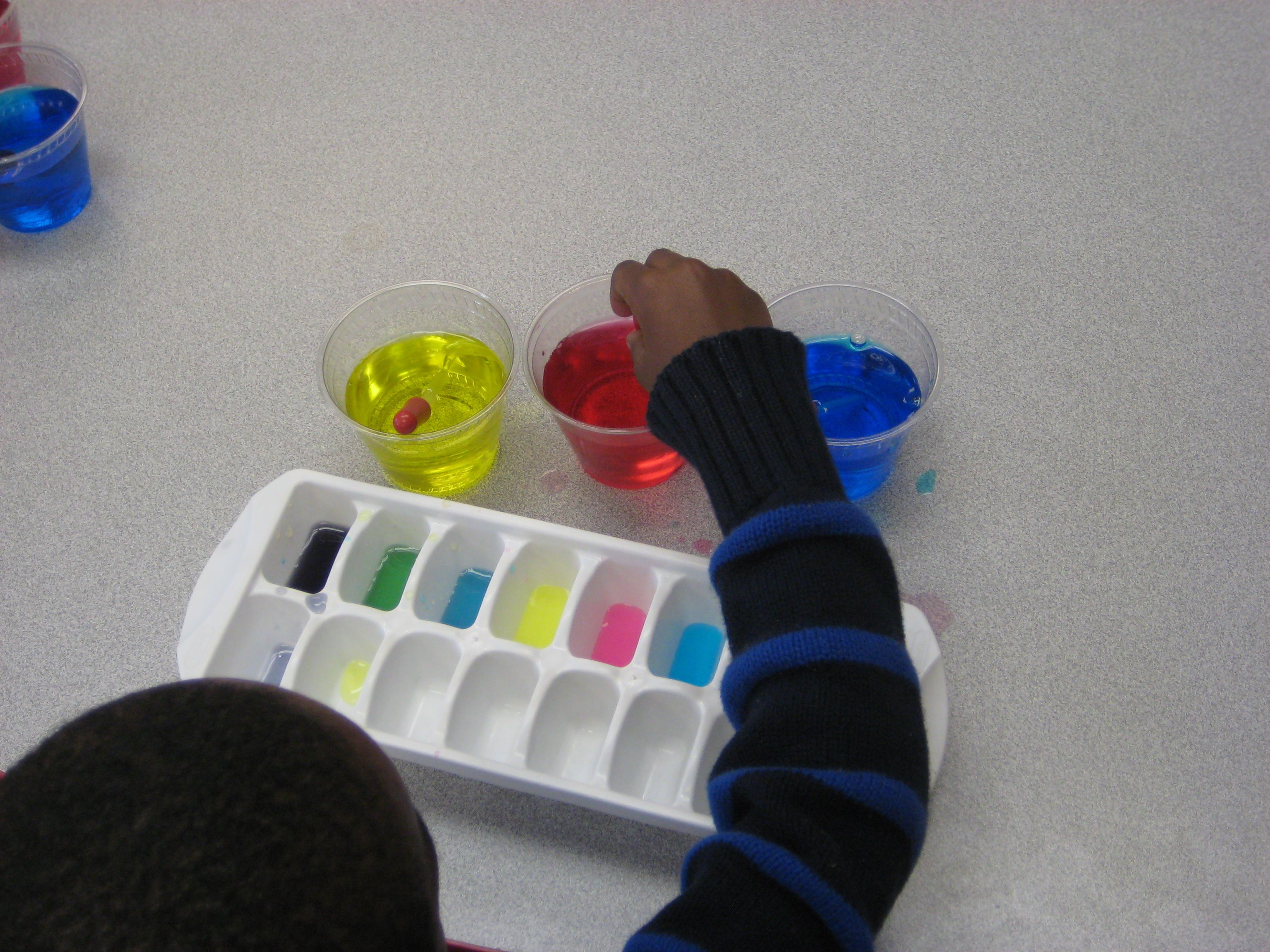 Color Mixing What You Need Ice Cube Tray 3 Cups Food