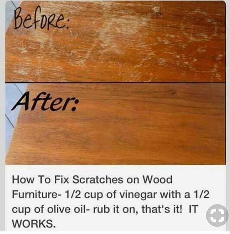 Getting scratches out of wood floors/furniture Homemade