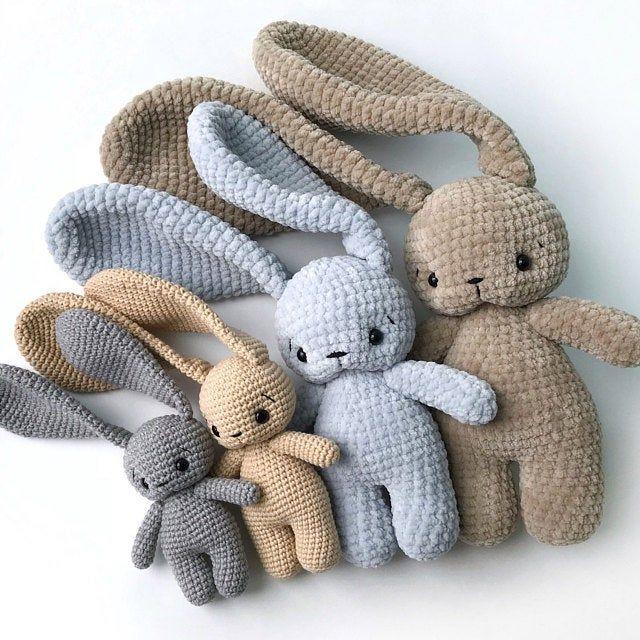 PDF Pattern Crochet Toy Cute Bunny Long Ears Amigu