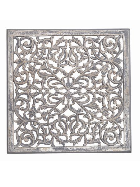 Large Carved Wooden Wall Panel - Nordic House - Large Carved Wooden Wall Panel - Nordic House Deco Ratio