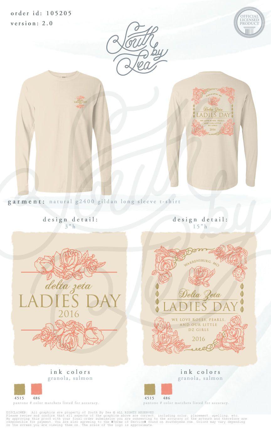 Delta Zeta | Ladies Day | Vintage T-Shirt Design | South by Sea ...