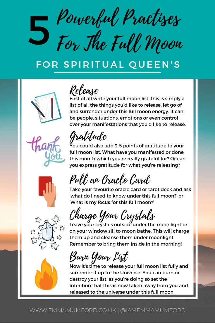 MY FULL MOON RITUAL - EMMA MUMFORD SPIRITUAL QUEEN