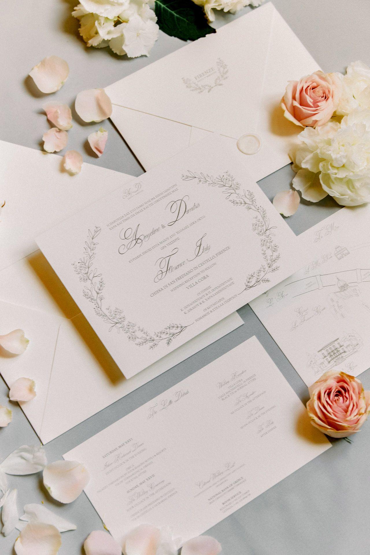 A Luxury Wedding In Florence Italy Sotiris Tsakanikas Photography In 2020 Handmade Wedding Invitations Digital Wedding Invitations Custom Wedding Invitations