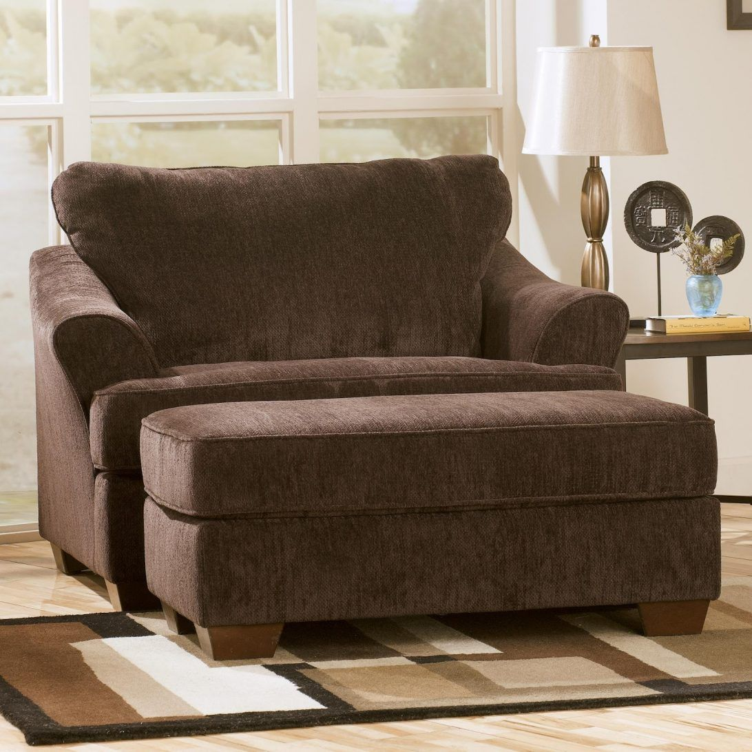 Microfiber Armchair Ottoman Excellent Oversized Chairs
