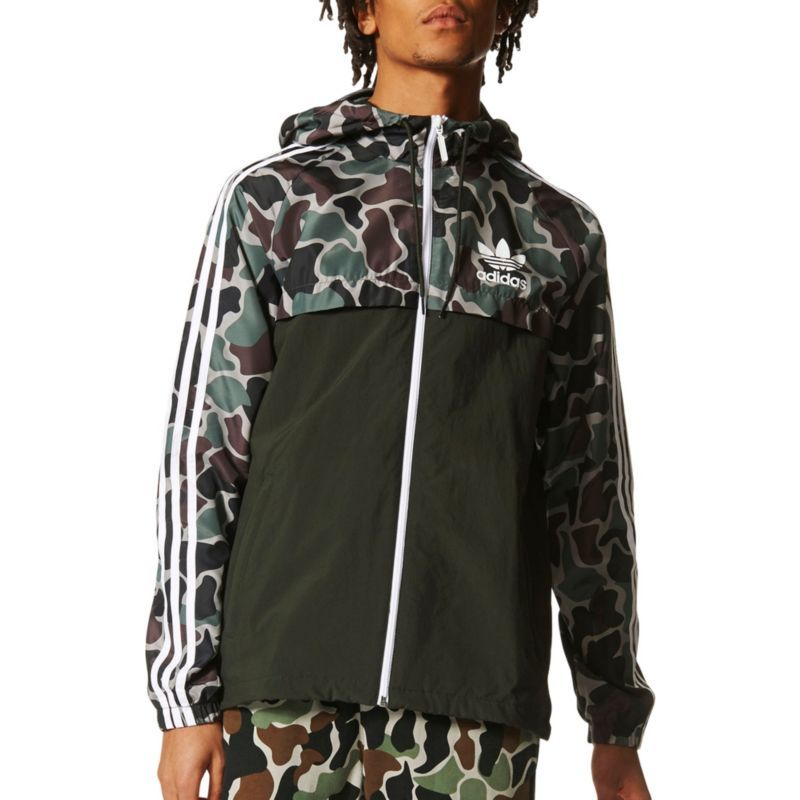5a951db33929 adidas Originals Men s Camouflage Windbreaker Jacket