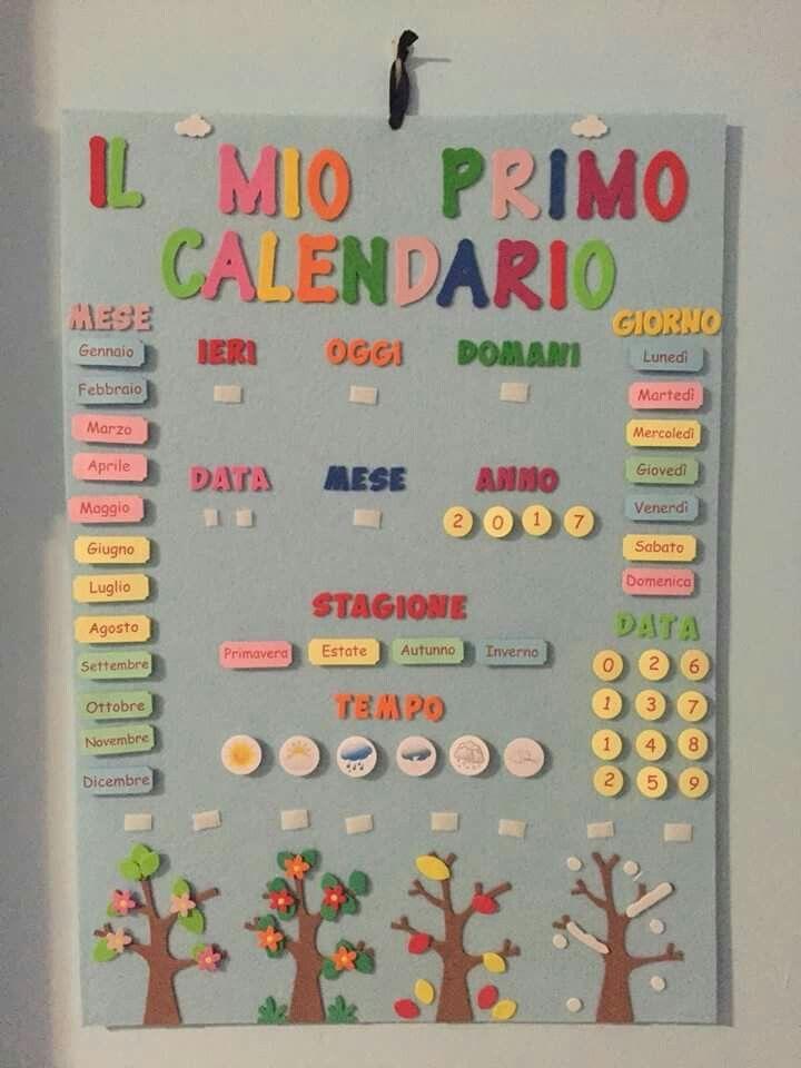 Calendario Bambini Scuola Infanzia.Love The Seasons Shown With Trees Hs Calendarios