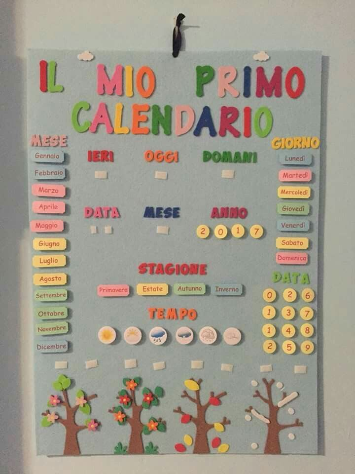 Calendario Classe Prima.Love The Seasons Shown With Trees Hs Calendarios