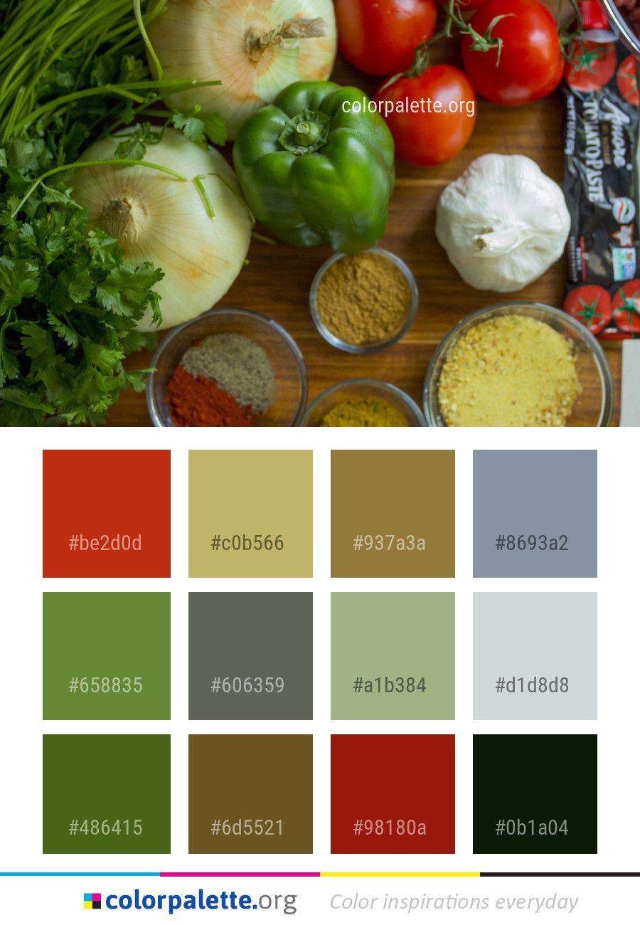 Natural Foods Vegetable Food Color Palette | Color Palettes | Color ...