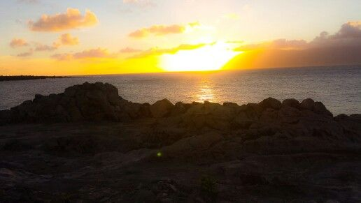 Dragons teeth sunset Maui