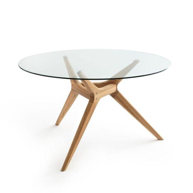 7e7a4e27fa5de Table ronde verre chêne