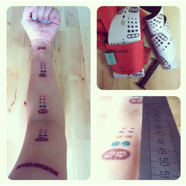 """""""Ilford HP5/120 + svema fn64/120 + 1 arm + 5 colors + tattoo artist + ruler = miun left arm   *each number marking is the distance from my finger tip, best way to gauge focusing"""""""