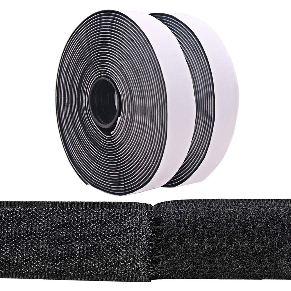 Shintop Self Adhesive Sticky Tape Hook And Loop Tape Heavy Duty For Home Office School Diy Projects 2 Rolls 16 5 Fee In 2020 School Diy Hook And Loop Tape Sticky Tape