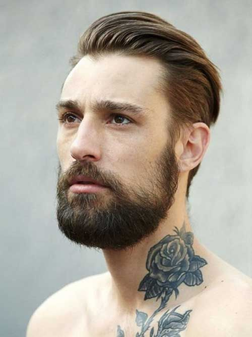 Erkek Boynu Gul Dovmesi Uzun Sacli Erkek Erkek Sac Modelleri Erkek Sac Kesimleri