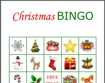 100 printable christmas bingo cards 2 per page by jovincreations - Free Printable Christmas Bingo Cards
