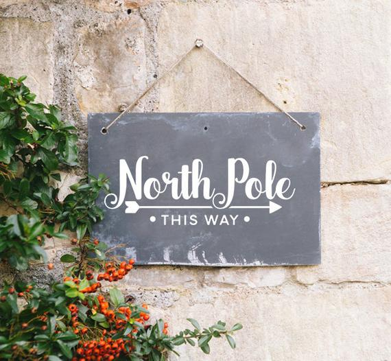 Instant Svg Png Dxf North Pole This Way Christmas Svg Etsy In 2020 Christmas Svg Christmas Phrases Christmas Signs