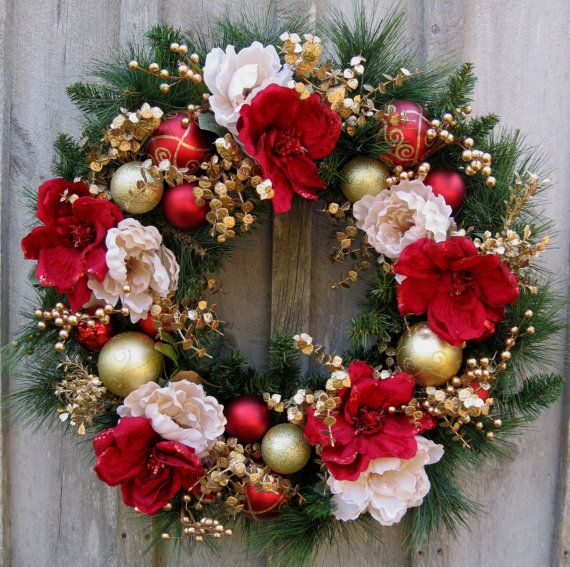Image result for christmas floral wreath 4 painting plates etc
