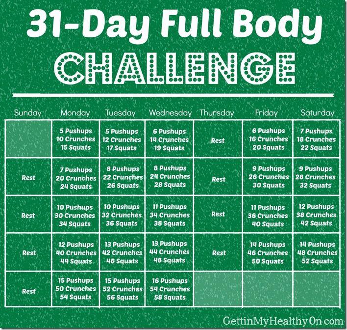 December Full Body Challenge