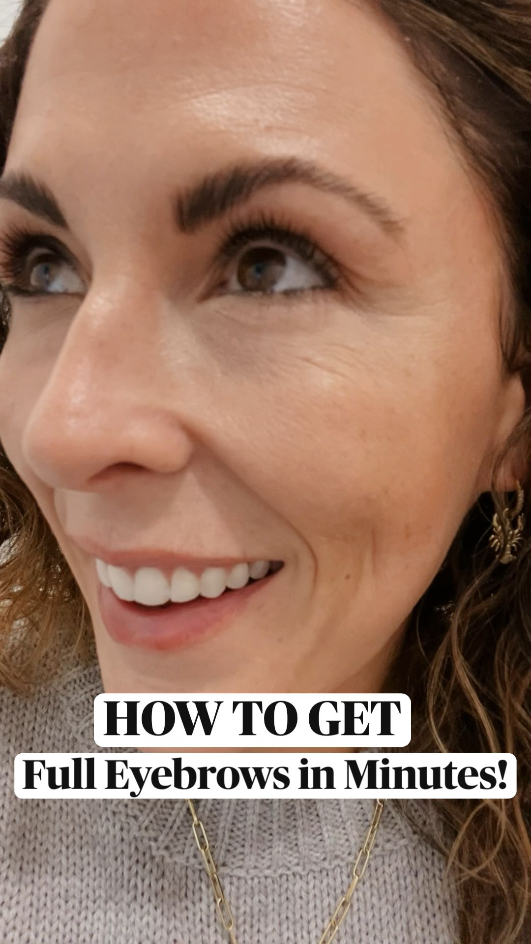 HOW TO GET FULL EYEBROWS INSTANTLY!
