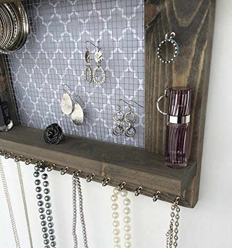 Amazoncom Jewelry Organizer Earring Holder Necklace Holder