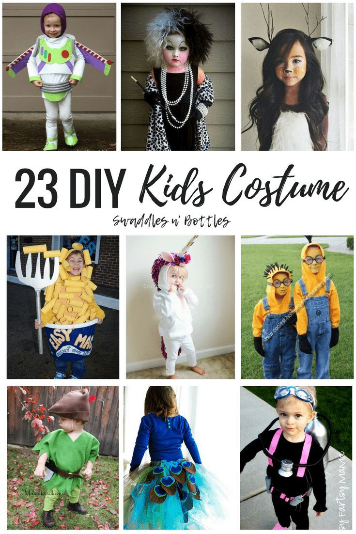 23 DIY Kids Halloween Costumes #toddlerhalloween