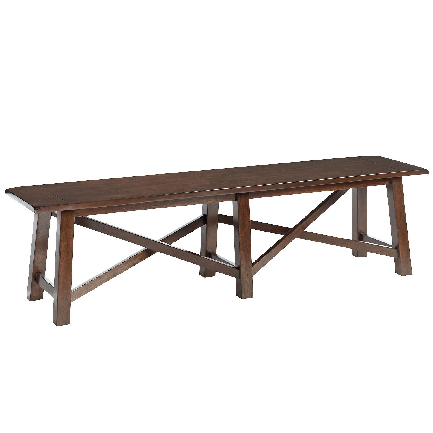 Torrance Bench Brown Tuscan Dining Room Centerpiece