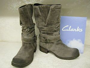 women's clarks majorca villa grey suede boots