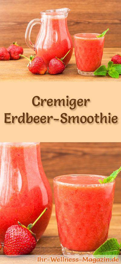 Erdbeer Smoothie Gesundes Rezept Zum Abnehmen Smoothies Shake