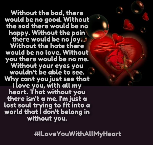 Love You With All My Heart Quotes For Him: I Love You With All My Heart Poems And Sayings