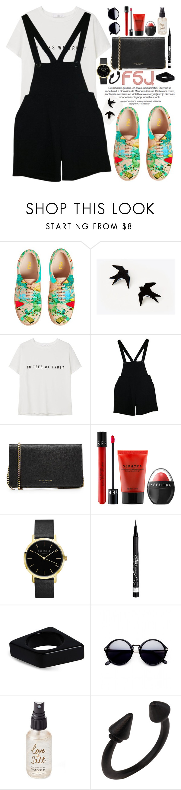 """""""FSJshoes"""" by oshint ❤ liked on Polyvore featuring MANGO, American Apparel, Marc Jacobs, Sephora Collection, Rimmel, Marni, Olivine, shoes and fsjshoes"""