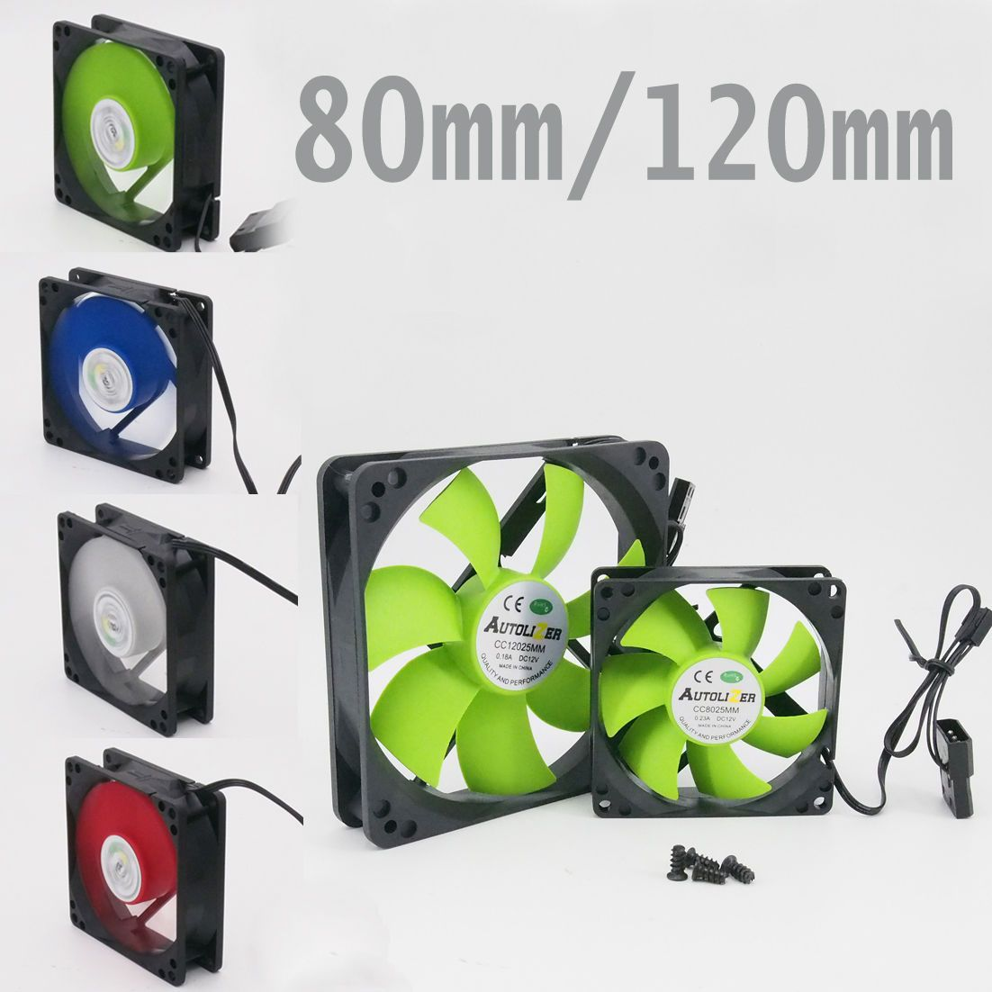 80mm 120mm Quiet Pc Computer Case Cooling Fan Mod All Color Ebay
